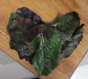 We heart beet greens! Well, I do. Well, maybe I don't heart them, but I like them.